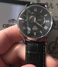 Orient Watch Sun And Moon LNIB With All Papers Day & Date Wrist Automatic Black