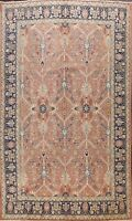 Antique Geometric Tebriz Traditional Area Rug Hand-Knotted Oriental Carpet 9x13