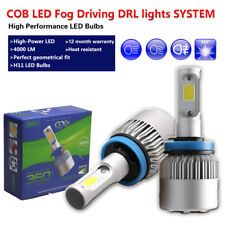 2X H11 COB LED Fog Light Driving Lamp White Bulb Kit Fit Chevrolet Impala Malibu