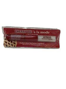 Bath Body Works Temptations Cherry Pie A' La Mode 2 In 1 Lip Gloss Shimmer Tint