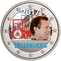 Luxemburg 2 Euro 2017 Freiwilliger Wehrdienst Gedenkmünze in Farbe