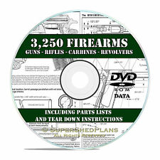 3250 Firearm-Gun-Weapon Manuals, Rifle, Carbine, Pistol Revolver Shotgun DVD V21