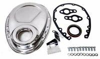 STEEL 1955-95 CHEVY SB 283-305-327-350-400 TIMING CHAIN COVER KIT - CHROME