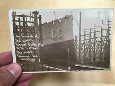 Photo carte CPA lancement  HMS Orion WW1 cuirassés dreadnought bateau navire