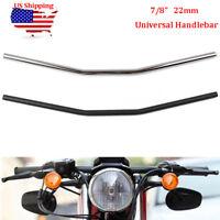 """7/8"""" 22mm Motorcycle Handlebar Flat Type Drag Bars For Chopper Bobber Cafe Racer"""