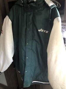 NFL Football Team New York Jets Reebak Style Jacket In A Size XL New