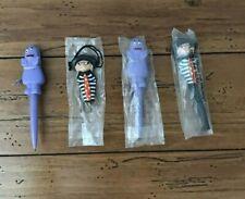 Vintage 1980 McDonald's Pen Necklaces Grimace Hamburglar Happy Meal Toys New