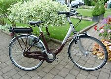 GAZELLE ORANGE C8 HYBRID DUTCH ELECTRIC BIKE WITH BATTERY AND CHARGER