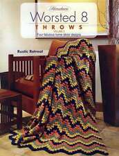 NEW HERRSCHNERS WORSTED 8 THROWS VOLUME 3 GREAT DESIGNS