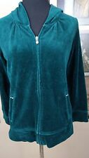 Style & Co Womens Hoodie Size P/M Petite Medium Forest Green Full Zip Knit