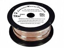 16 Gauge Tinned Marine Primary Wire / Tan / 50 Foot Reel