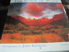 SPIRIT OF PLACE GAVRILIS  2018 WALL CALENDAR 16 MONTH 12 PHOTOS SHRINK WRAPPED