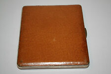 Very Nice Gold and Pigskin Cigarette Case Made in England