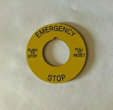 Engraved Pushbutton Legend Plate 30mm Round Chose Your Text Amp Color