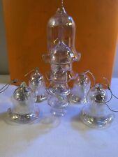 Vtg Christmas Ornament Bells of Christmas 5 Tier Clear Iridescent Glass Bells