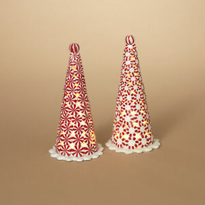 """9.5""""H Light Up Christmas Gum Candy Peppermint Candy Tree Decoration"""
