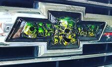 2014-2020 GM Chevy Colorado bowtie skull emblem, front grille emblem
