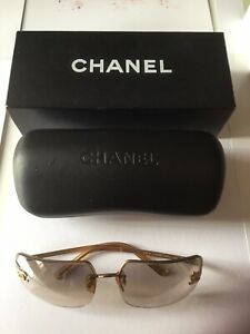 Chanel Sunglasses With Case And Box Used Condition