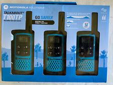 Motorola TalkAbout T100TP 2-Way 3 Pack 16 Mile Range Blue Radio