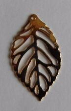 10 Rose Gold Leaves Filigree Leaf Hollow Charms Pendants for Jewellery Making