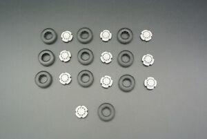 Tekno | 10x Front Super Single Wheels + 10x Tyres (Non Chrome) 1:50 Scale