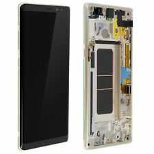 VITRE TACTILE ECRAN LCD ORIGINAL SUR CHASSIS SAMSUNG GALAXY NOTE 8 OR GOLD