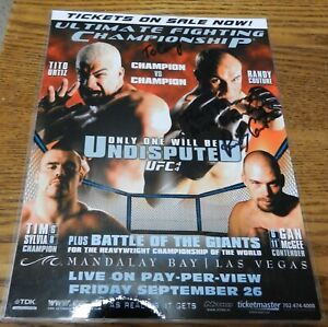 """2003 """"Battle of the Champions"""" laminated 8 X 11 Tito Ortiz Randy Couture signed"""