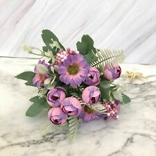 Rose Artificial Silk Flowers 10 heads Bouquet Fake Flowers Wedding Decor