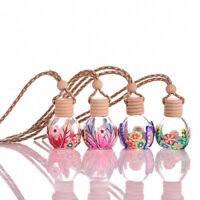EG_ FLOWER PRINTED FRESHENER AIR HANGING FRAGRANCE CAR PERFUME DIFFUSER BOTTLE F