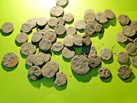 5 Encrusted Roman Bronze Coins for Cleaning and Identification (Limited Quantity