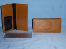 "PHILADELPHIA EAGLES  ""glove"" Leather Checkbook  NEW  tan  bb c"