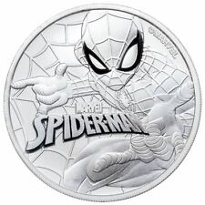 Spider-Man 1 oz 0.9999 Silver Coin | In Original Mint Capsule and Bag