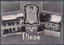 TREVISO RIESE PIO X 12 SALUTI da... PAPA - POPE - PAPST Cartolina