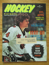 BOBBY ORR Hockey Pictorial (January 1974) Magazine with DAVE KEON Poster
