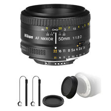 Nikon AF FX NIKKOR 50mm f/1.8D Lens for Nikon D7200 D7500 and Accessory Kit
