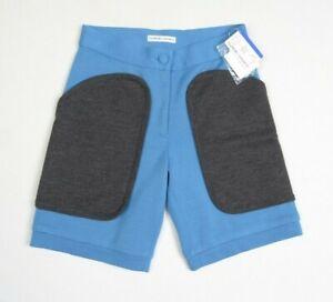 TSUMORI CHISATO Women Pants M 2 Wool Tricot Knit Trouser Short Patch Blue JAPAN