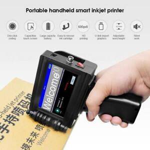 Handheld Inkjet Drucker Datums Barcode Logo Etikette Codierung Maschine 600DPI