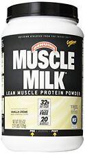 Muscle Milk Genuine Protein Powder Vanilla Crme 32g Protein 2.47 Pound EXP 7/17