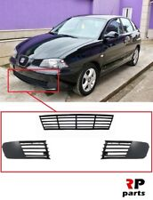 SEAT IBIZA, CORDOBA 02-06 FRONT BUMPER LOWER GRILL PAIR BLACK WITH CENTER GRILLE
