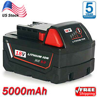 NEW For Milwaukee M18 Lithium XC 6.0 Extended Capacity Battery 48-11-1852 5.0Ah