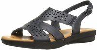 Easy Street Womens Bolt Open Toe Casual Slingback Sandals