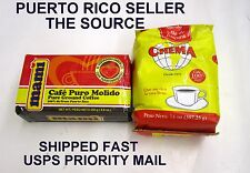 Puerto Rico Coffee Cafe Mami Crema Caribbean Hot Roasted Beverage Drink 6 bags