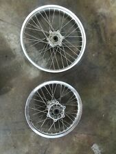 OEM Used Suzuki DRZ 400 S E Front and Rear Dual Sport Dirt Wheels