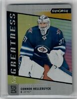 2020-21 Upper Deck Synergy Cast for Greatness Connor Hellebuyck Jets metal card