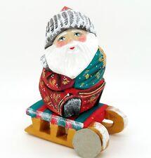 In Legno Figura Intaglio Scultura Bambola Russa Babbo Gelo Babbo Natale Piccolo