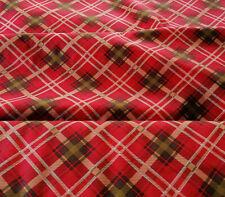 Kariert 10 X 112 cm Baumwollstoff rot Streifen creme grün Quadrate Karo