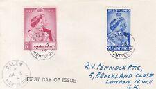 MONTSERRAT 1848 SILVER WEDDING FDC FROM SALEM, SG CAT £18++