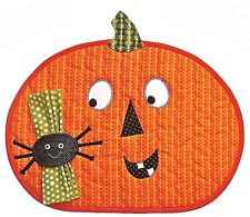 New Placemat Pattern JACK-O-LANTERN with Spider Napkin Holder