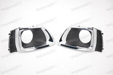 Front Bumper Grille Fog Lamp Bezels Pair For Subaru Forester 2014-2016