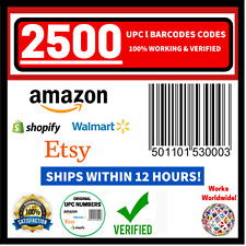 (2500) ORIGINAL NEW UPC EAN Numbers Barcode Verified Codes ID FOR Amazon Listing